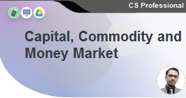 Capital Commodity and Money Markets