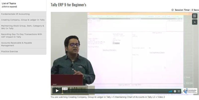 Tally ERP 9 for Beginner's