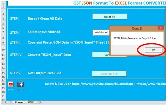 How to convert JSON file to Excel Format? - GSTR 2 Filing