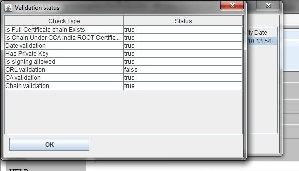 Digital signature - crl validation status false, please help - Info