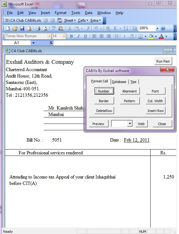 service tax invoice format in excel - service tax forum, Invoice templates