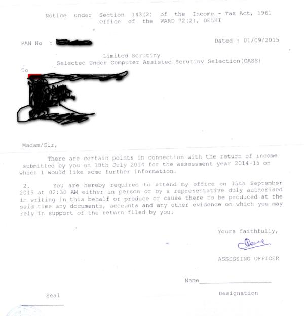 Notice under section 1432 got today income tax forum thanks spiritdancerdesigns Gallery