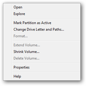 how to shrink an existing hard drive windows
