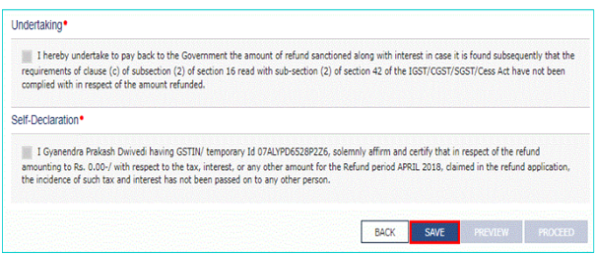 GST-RFD-01A: Refund on Account of Excess Payment of Tax