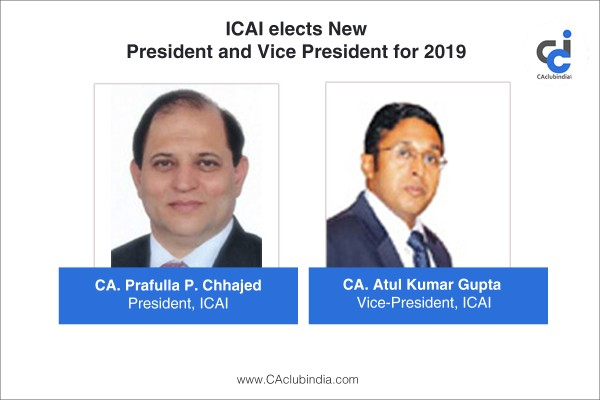 ICAI elects new President and Vice President for 2019