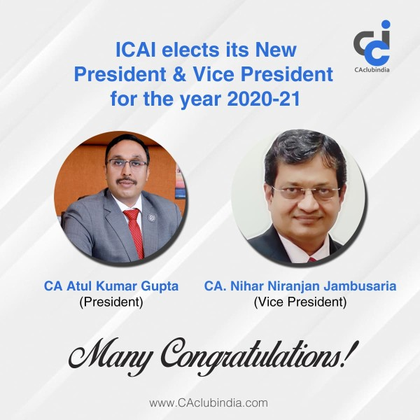 ICAI elects its new President and Vice President