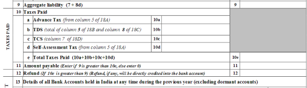 How to show refund to be deposit in revised return - Income