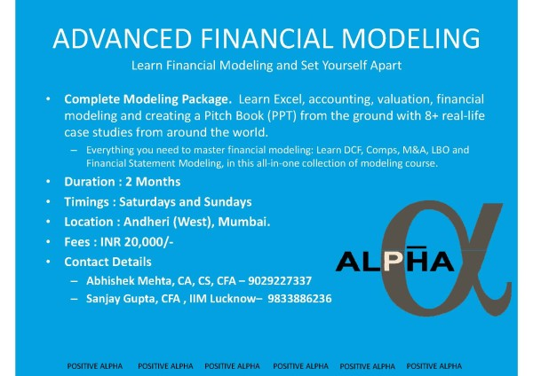 What is the best way to learn to do financial modelling ...