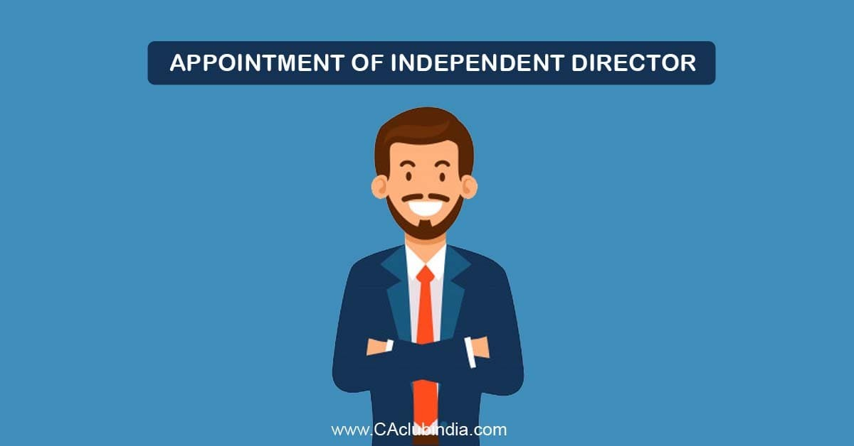 Appointment of Independent Director