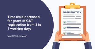 Time limit increased for grant of GST registration from 3 to 7 working days