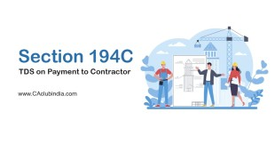 Section 194C | TDS on Payment to Contractor