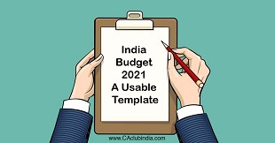 India Budget 2021 - A Usable Template